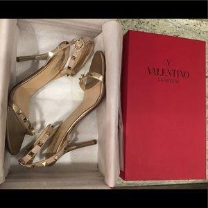 Valentino Rockstud Ankle Strap Sandal